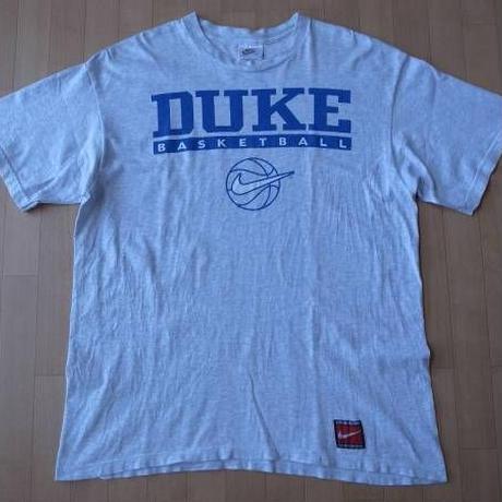 90's USA製 DUKE大学 バスケットボールNIKE TシャツL Grant Hill デューク【deg】