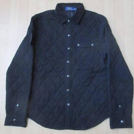 POLO RALPH LAUREN ポロ ラルフローレン キルティング 中綿入り シャツ ジャケットM黒【deg】