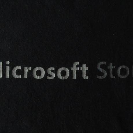 Microsoft Store ロゴ Tシャツ L 黒 ブラック マイクロソフト ストア Bill Gates ビル・ゲイツ パソコン PC Windows ウィンドウズ ART 芸術【deg】