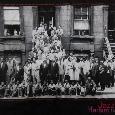 90's Art Kane FOTOFOLIO Harlem 1958 フォト Tシャツ XL黒JAZZジャズBlakey Count Basie Thelonious Monk【deg】