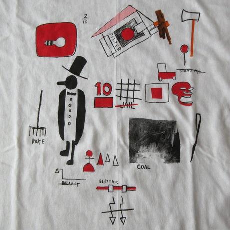 00's ジャン=ミシェル・バスキア FOTOFOLIO J.D.Card Tシャツ L Jean-Michel Basquiat アンディ ウォーホルAndy Warhol芸術【deg】