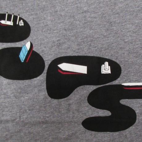 00's USA製 パタゴニア SLICKERY OOPS Tシャツ L GRAVEL ヘザーグレー系 PATAGONIA 半袖 カットソー アウトドア