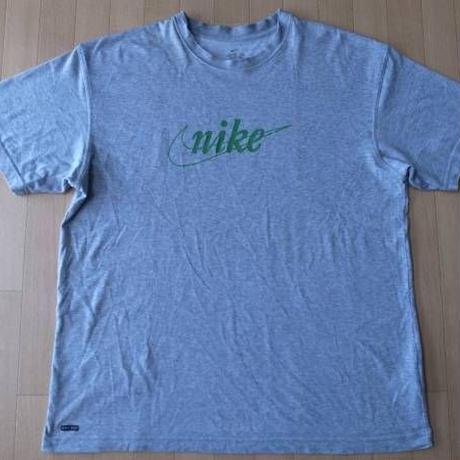 NIKE DRI-FIT 筆記体 Tシャツ XL ヘザーグレー ナイキ 速乾性 風車 スクリプト NSW ランニング マラソン ハイキング 半袖 カットソー【deg】