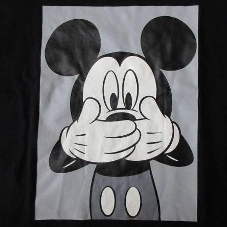 スペリオール ミッキーマウス コラボ 両面プリント入り Tシャツ XL ブラック Disney ディズニー Superior Mickey Mouse 半袖 カットソー【deg】