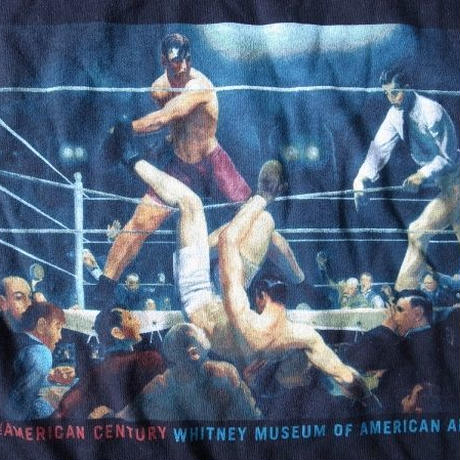 90's George Bellows Dempsey and Firpo TシャツXLボクシングART ジョージ ベローズ【deg】