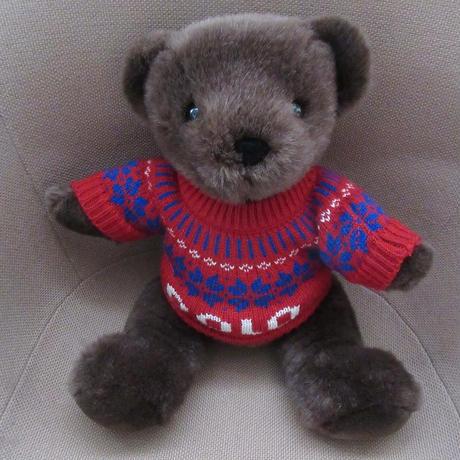 00's ラルフローレン 2000年 ポロベアー 雪柄POLOニット ぬいぐるみ ポロ ベア 熊POLO BEAR人形RALPH LAUREN小物 インテリアUSAセーターn【deg】