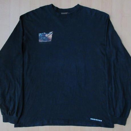 00's TRANSPORT 長袖 Tシャツ L 黒 トランスポート ロンT still sequence スティルシークエンス Code ; C 渡辺陽平