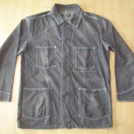 OSHKOSH ブラックデニム・カバーオール・ジャケット サイズ・M 正規品 -708