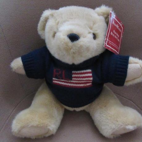 90's ラルフローレン 1996年 ポロベアー RL星条旗 ニット ぬいぐるみ ポロ ベア 熊 POLO BEAR 人形 RALPH LAUREN 小物 インテリアUSA【deg】