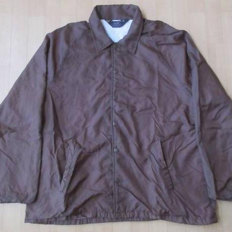 70's 80's Sears オールド 無地 ナイロン コーチ ジャケット XLブラウン 大きい シアーズ ブルゾン ヴィンテージWORKワーク【deg】