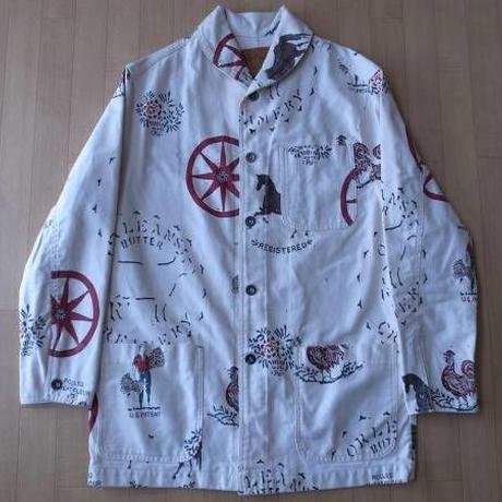 POLO COUNTRY 総柄・ショールカラー・カバーオールジャケット サイズ・M 正規品 MADE IN U.S.A. -355