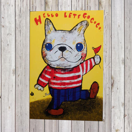 ポストカード White-french-bulldog(フレンチブルドッグ)