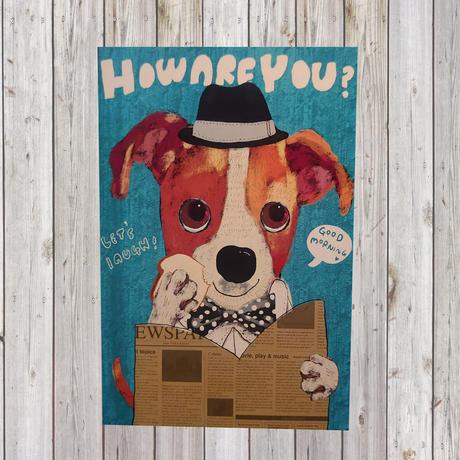 ポストカード   Jack Russell Terrier(ジャックラッセルテリア)