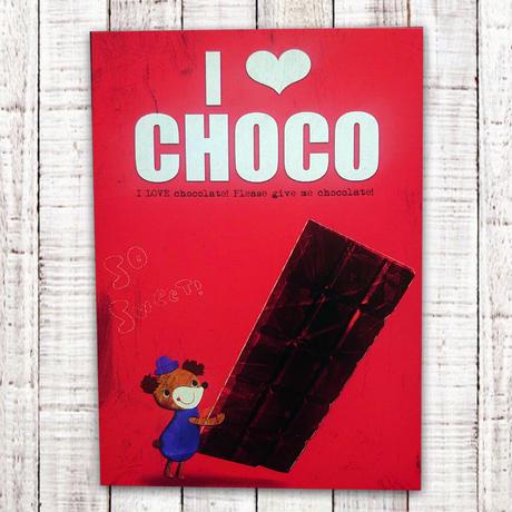 ポストカード  I LOVE CHOCO(チェコ)