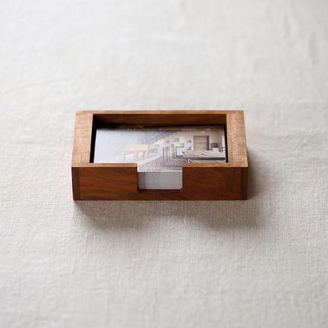 木製 名刺・ショップカードホルダー(サクラ)