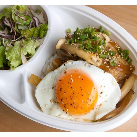 【nee-mart県庁前店】[宅配]ロコモコ丼(きのこバター醤油)