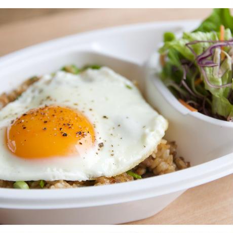 【cafe-nee】ひき肉と納豆のチャーハン