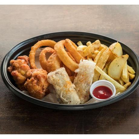 【MIRAI restaurant&cafe】4種フライのよくばりセット