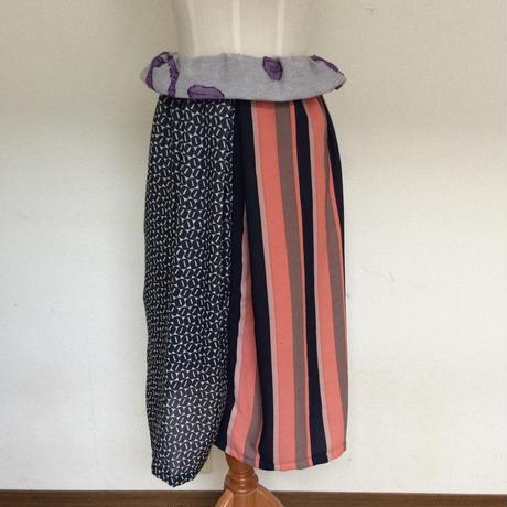 異素材MIXタック入スカート