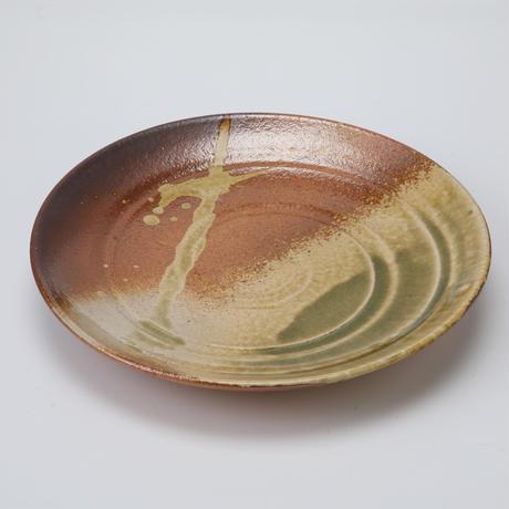 古信楽 丸皿 10号