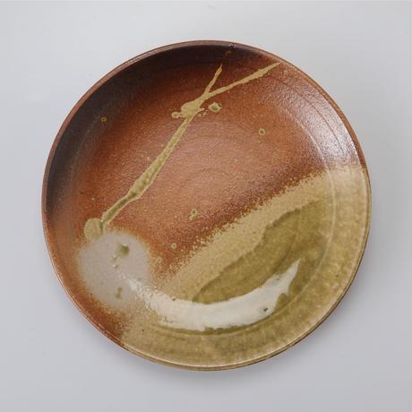 古信楽 丸皿 7号