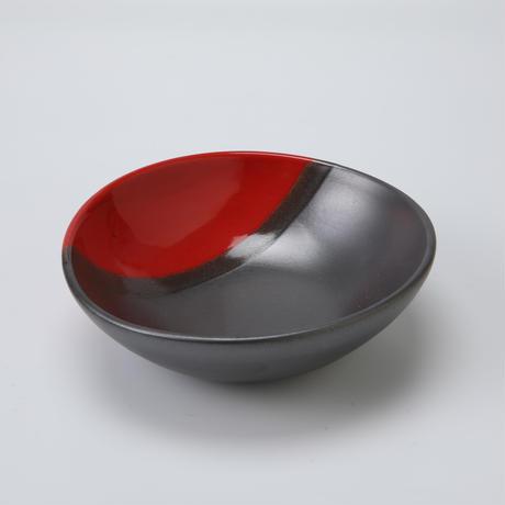 赤黒 たわみ鉢 5号
