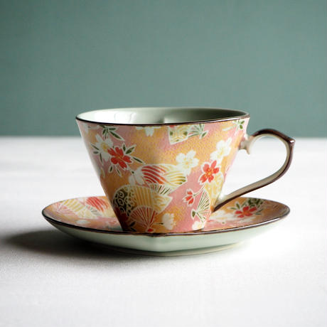ハートコーヒーc/s扇桜ピンク