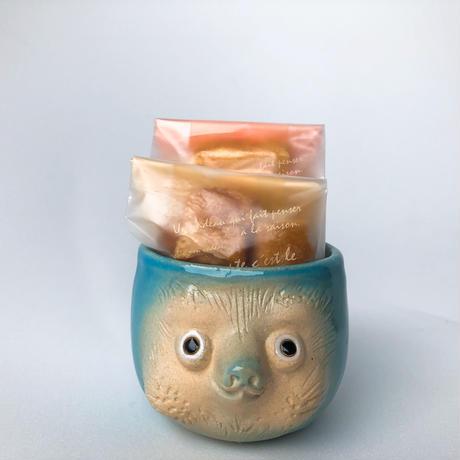 忠左衛門オリジナル手作り(青)と山田牧場さんのお菓子セット