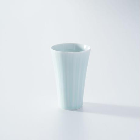 【鍋島虎仙窯】青白磁十草フリーコップ