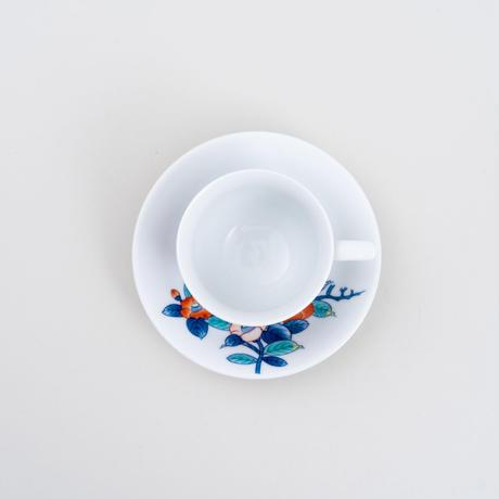 色絵鍋島椿珈琲碗
