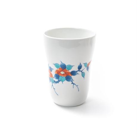 【冬山窯】色鍋島椿文フリーカップ