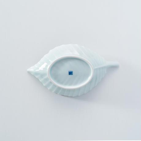 【鍋島虎仙窯】青白磁芭蕉皿
