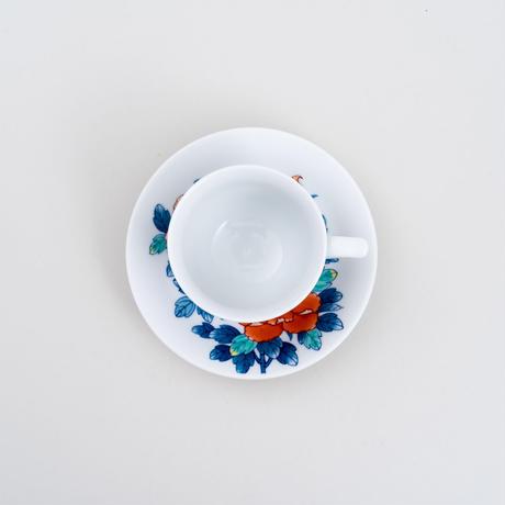 色絵鍋島焼牡丹珈琲碗