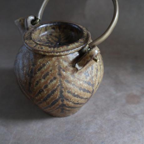 鉄絵土瓶 小 021