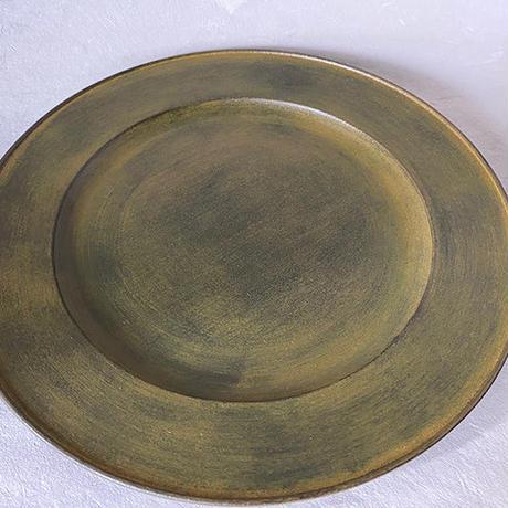 黄漆リム皿 012