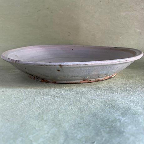 広川絵麻  白いリム皿   022
