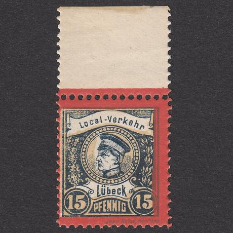 ドイツ(民間地方切手)Lübeck:1888年 Mi#9 【MNH】