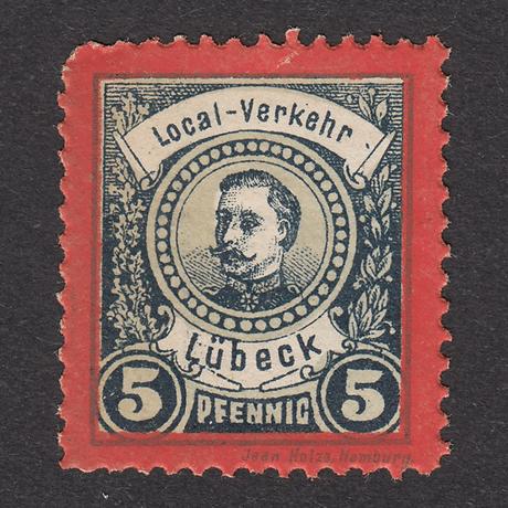 ドイツ(民間地方切手)Lübeck:1888年 Mi#7