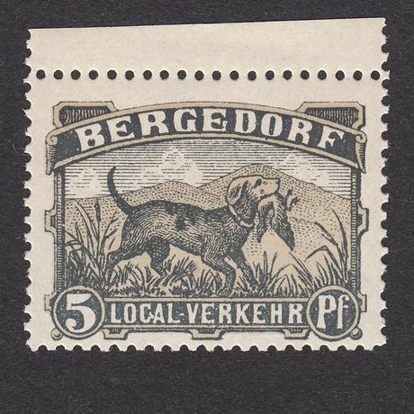 ドイツ(民間地方切手)Bergedorf:1887年 Mi#5