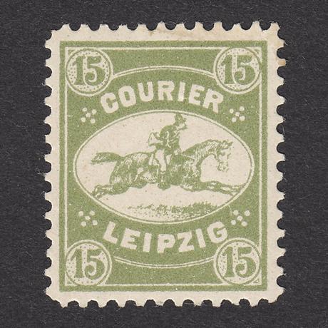 ドイツ(民間地方切手)Courier:1892年 Mi#10