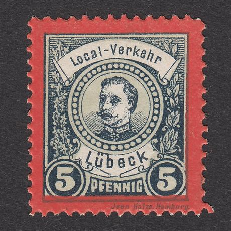 ドイツ(民間地方切手)Lübeck:1888年 Mi#7 【MNH】