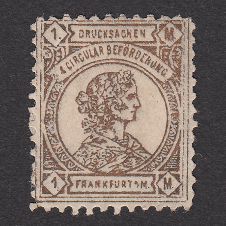 ドイツ(民間地方切手)Frankfurt:1887年 Mi#10