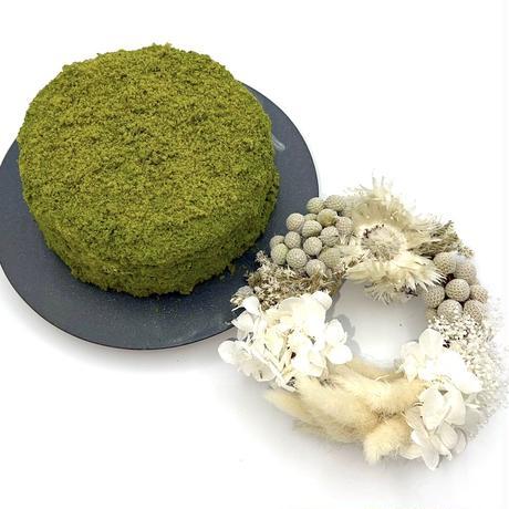 2)抹茶クラム × sakurakoプリザーブド リース
