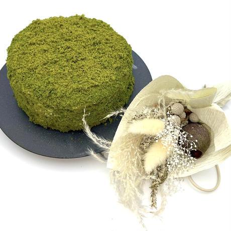 4)抹茶クラム × sakurakoプリザーブド スワッグ