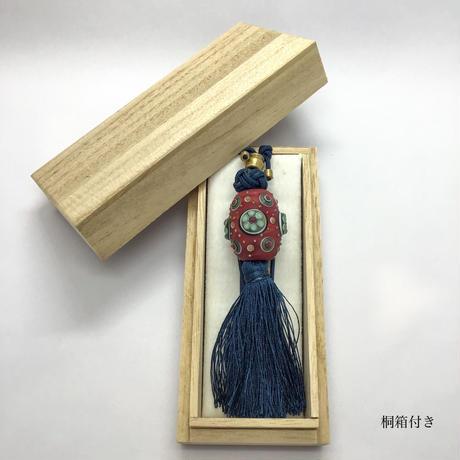 正絹タッセル付とんぼ玉ペンダント 林 裕子