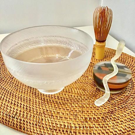 丸茶碗  「重ね氷」 佐野 猛