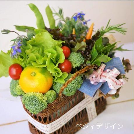 野菜好きの方への誕生日プレゼントに大人気♡野菜ブーケバスケット(クール便送料無料)