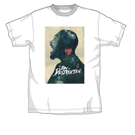 映画「破壊の日」US版ヴィジュアル Tシャツ【白】