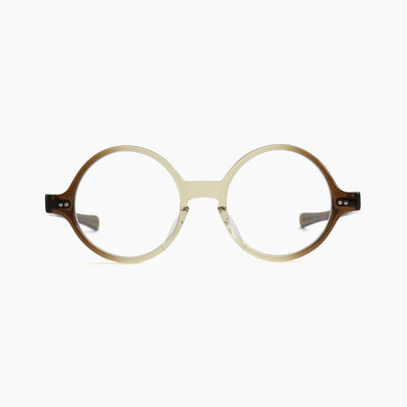< JULIUS TART OPTICAL > T-ROUND [Brown Gradient]