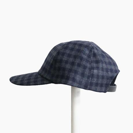 <COMESANDGOES> CHECK CAP - Gray×Navy